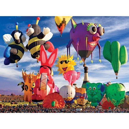 LaFayette Puzzle Factory™ Funky Shapes Hot Air Balloons at Albuquerque Festival Jigsaw Puzzle - Saw Jigsaw Halloween Makeup