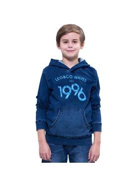 5dde9780555b Product Image Leo Lily boys  Polar Bear Print Fleece Sweatshirts T-Shirt  (Blue