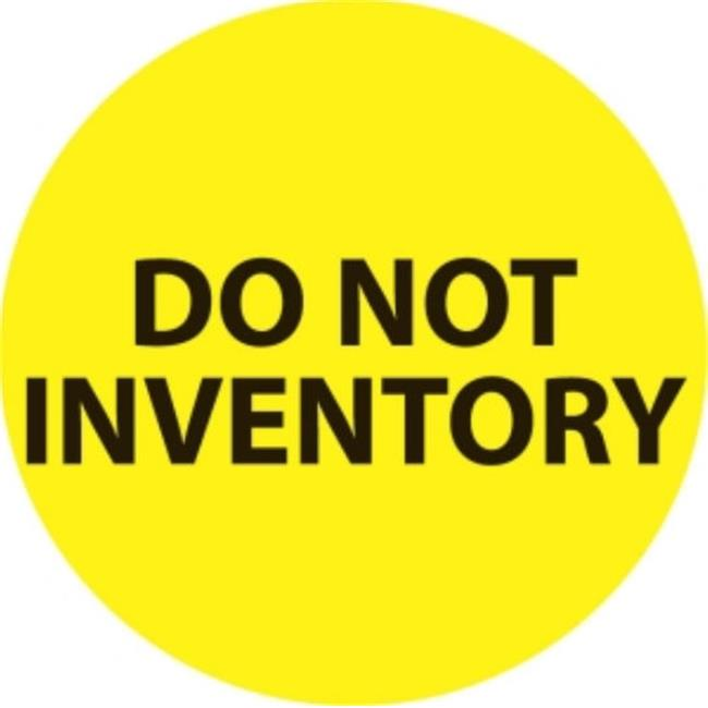 Ace Label 67480F 2 inch Circle Do Not Inventory