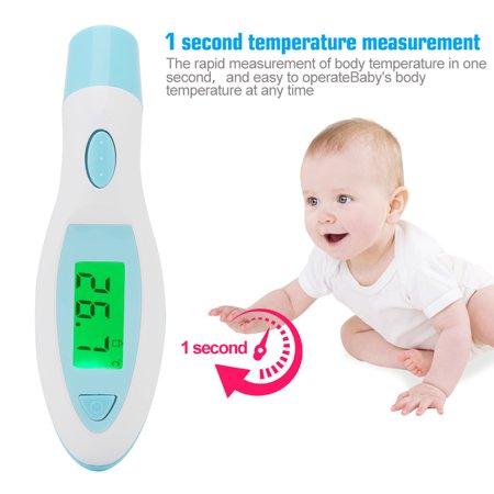 WALFRONT Moniteur de température pour thermomètre infrarouge infrarouge sans contact pour adultes avec affichage à cristaux liquides adulte numérique LCD pour bébé, thermomètre pour bébé, - image 3 de 9