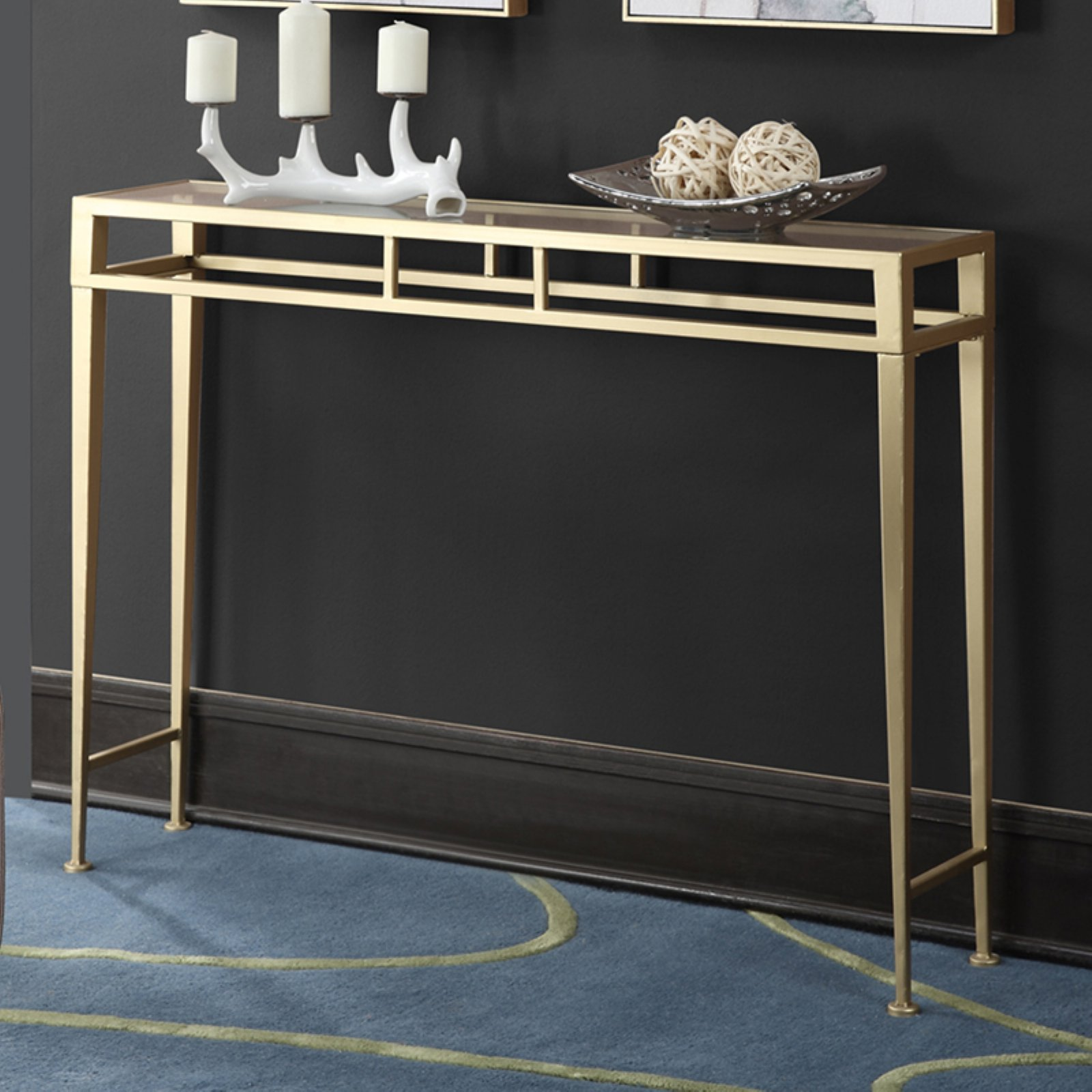 Convenience Concepts Gold Coast Julia Hall Console Table, Gold by Convenience Concepts