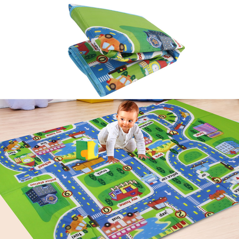 OUTAD For Kid Play Toy Creeping Mat Children in Developing Carpet Baby In Foam Rug multi-color 130*160*0.5cm