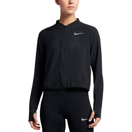 Nike Womens Perforated Bomber Athletic Jacket