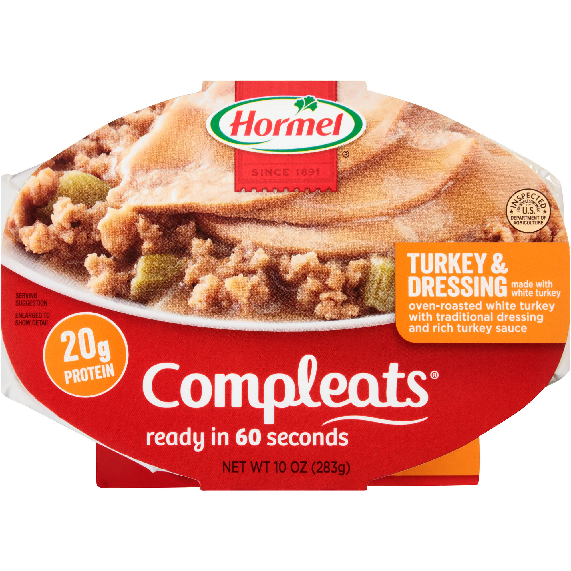 Hormel Turkey & Dressing With Gravy Microwave Bowls, 10 oz