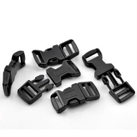 50 Sets Black for 550 Para Cord Survival Bracelet Plastic Buckle 1 6/8