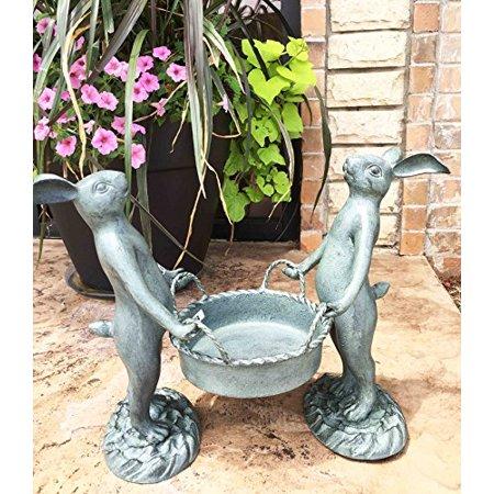 Whimsical Hardworking Bunny Rabbit Gardeners Flower Pot Planter ...