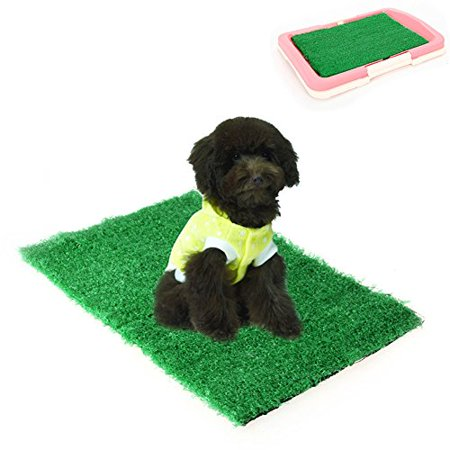 Amrka Pet Cat Puppy Dog Training Indoor Potty Synthetic Grass Pee Pads For Restroom