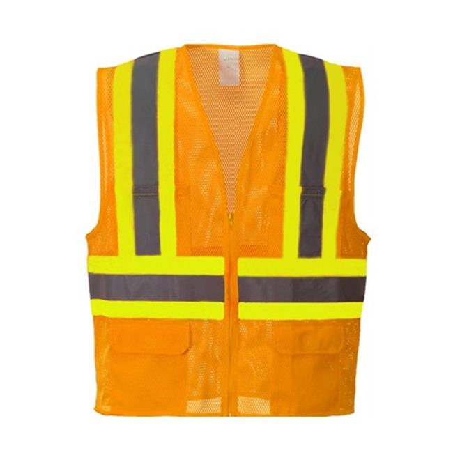 Portwest US371 3XL Tulsa Contrast Hi-Visibility Zippered Mesh Vest, Orange - Regular - image 1 de 1