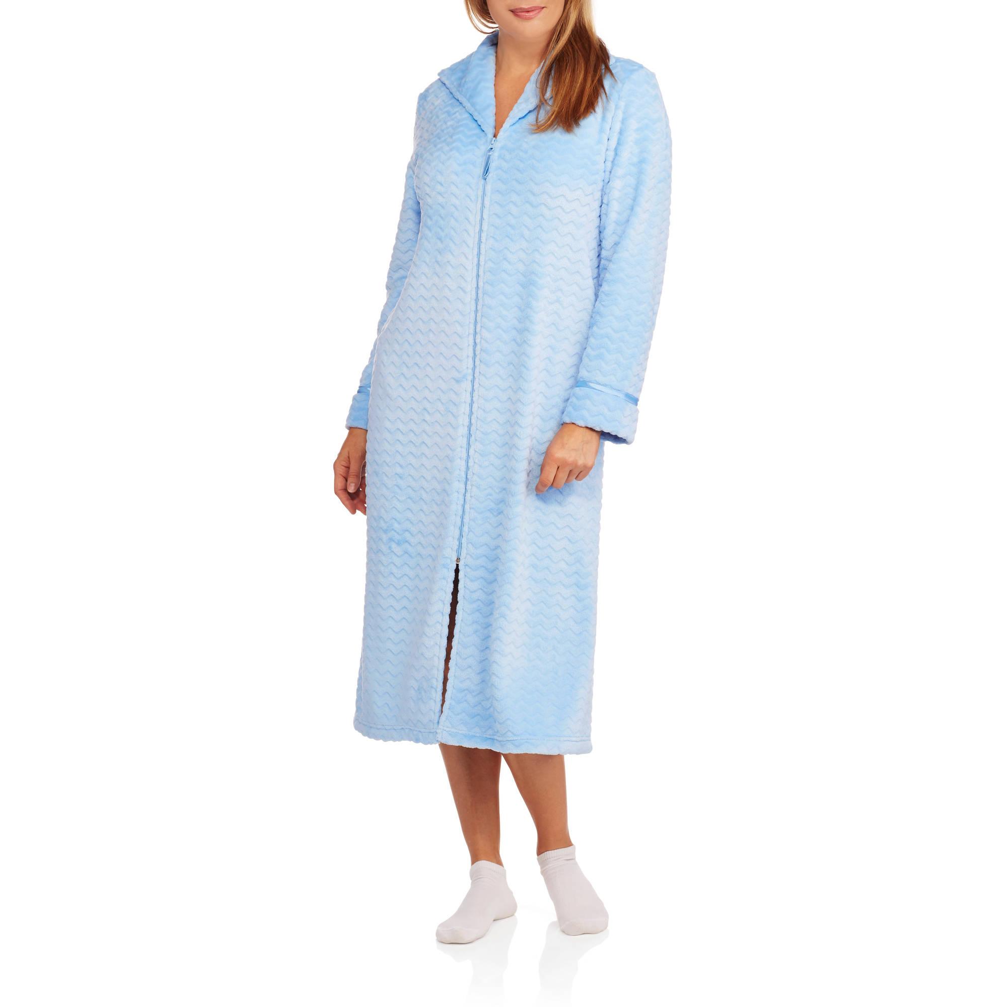 Secret Treasures Women's Plush Zip Sleep Robe