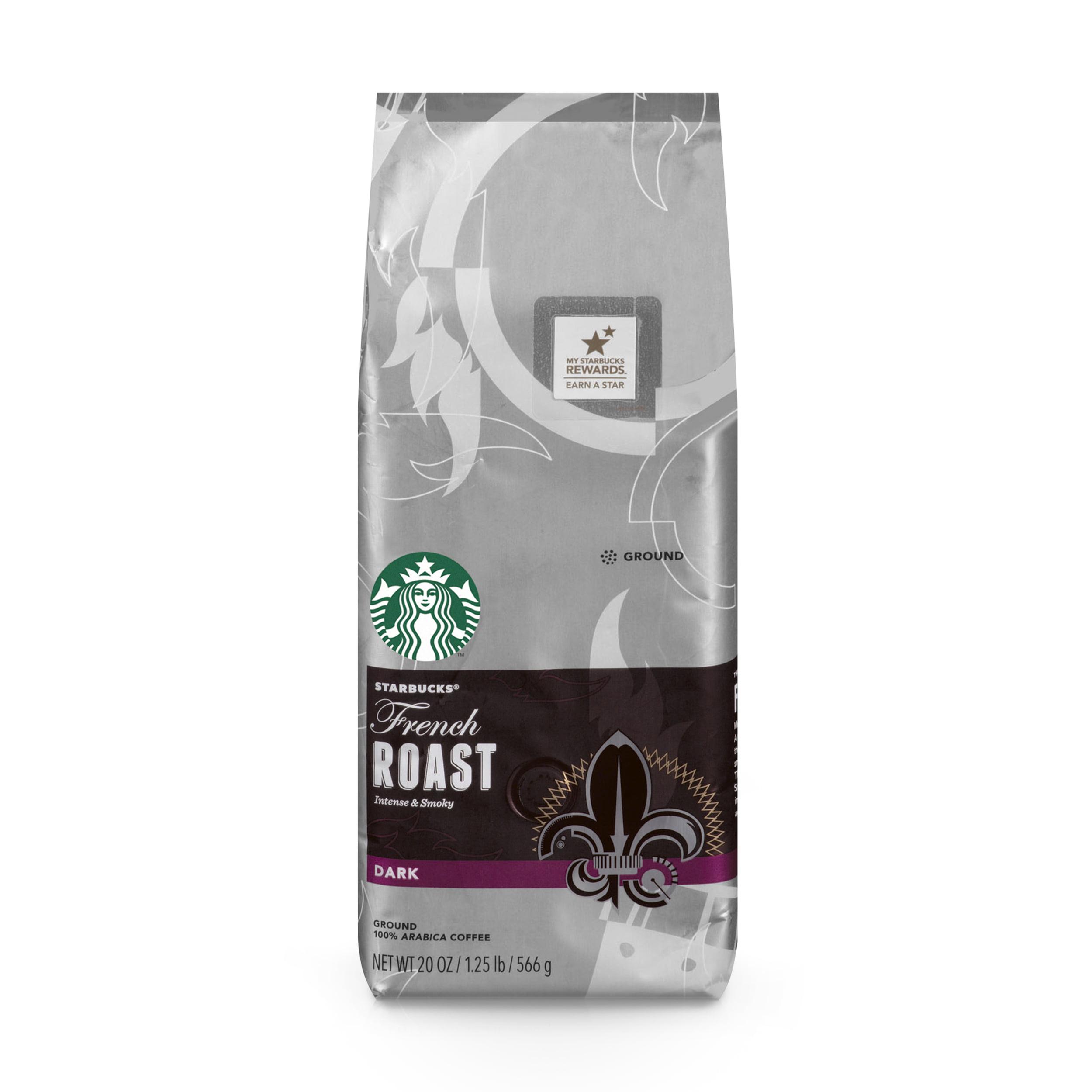 Starbucks French Roast Dark Roast Ground Coffee, 20-Ounce Bag ...