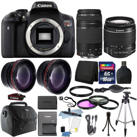 Canon EOS Rebel T6 DSLR Camera + EF-S 18-55mm IS II Lens Kit +16GB (Best Gp Dslr Accessories)