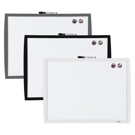 Quartet Magnetic Dry Erase Board with Curved Frame, 17