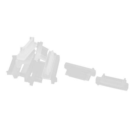 Unique Bargains 10 Pcs Silicone ESATA Port Jack Anti Dust Cover Protector Clear