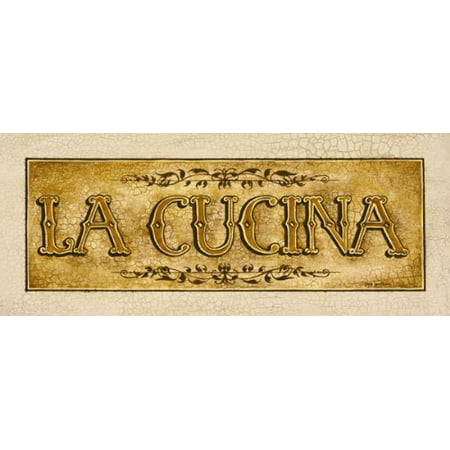 Vintage Spanish Cucina Sign; Kitchen Décor; One 20x8in Poster Print