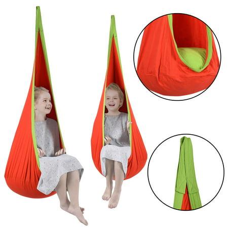 Costway Child Pod Swing Chair Tent Nook Indoor Outdoor Hanging Seat Hammock - Tmnt Chair