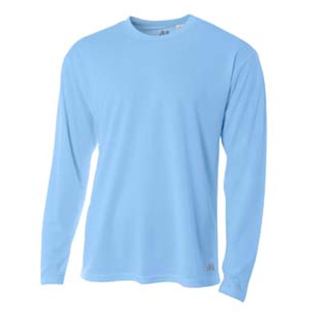 A4 Men's Long Sleeve Crew Birds Eye Mesh T-Shirt N3253