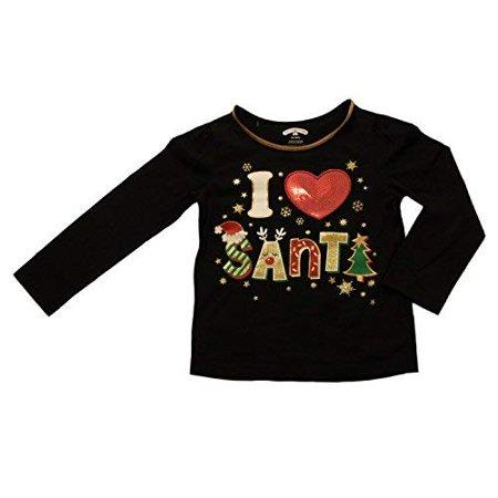 Holiday Time Infant Toddler Girls Black I Heart Santa T Shirt Tee Shirt 12m Walmart Canada