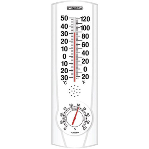 Springfield Plainview Indoor Outdoor Thermometer and Hygrometer by Springfield