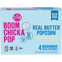 Angies BoomChickaPop Real Butter Microwave Popcorn 3.29 Oz. 4 Count
