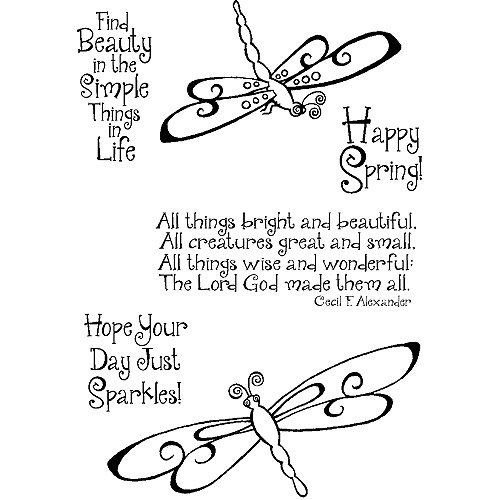 Inky Antics Clear Stamp Set-Swirly Dragonflies
