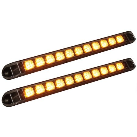 Pair of Clear Lens Amber LED 17