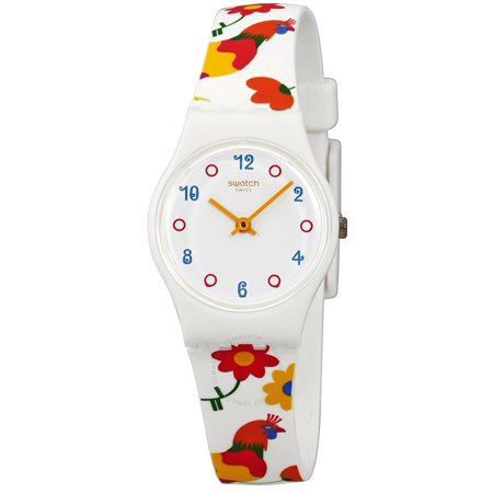f678500c2ede Swatch - Swatch Polletto White Dial Ladies Multi-Colored Print Watch LW154  - Walmart.com