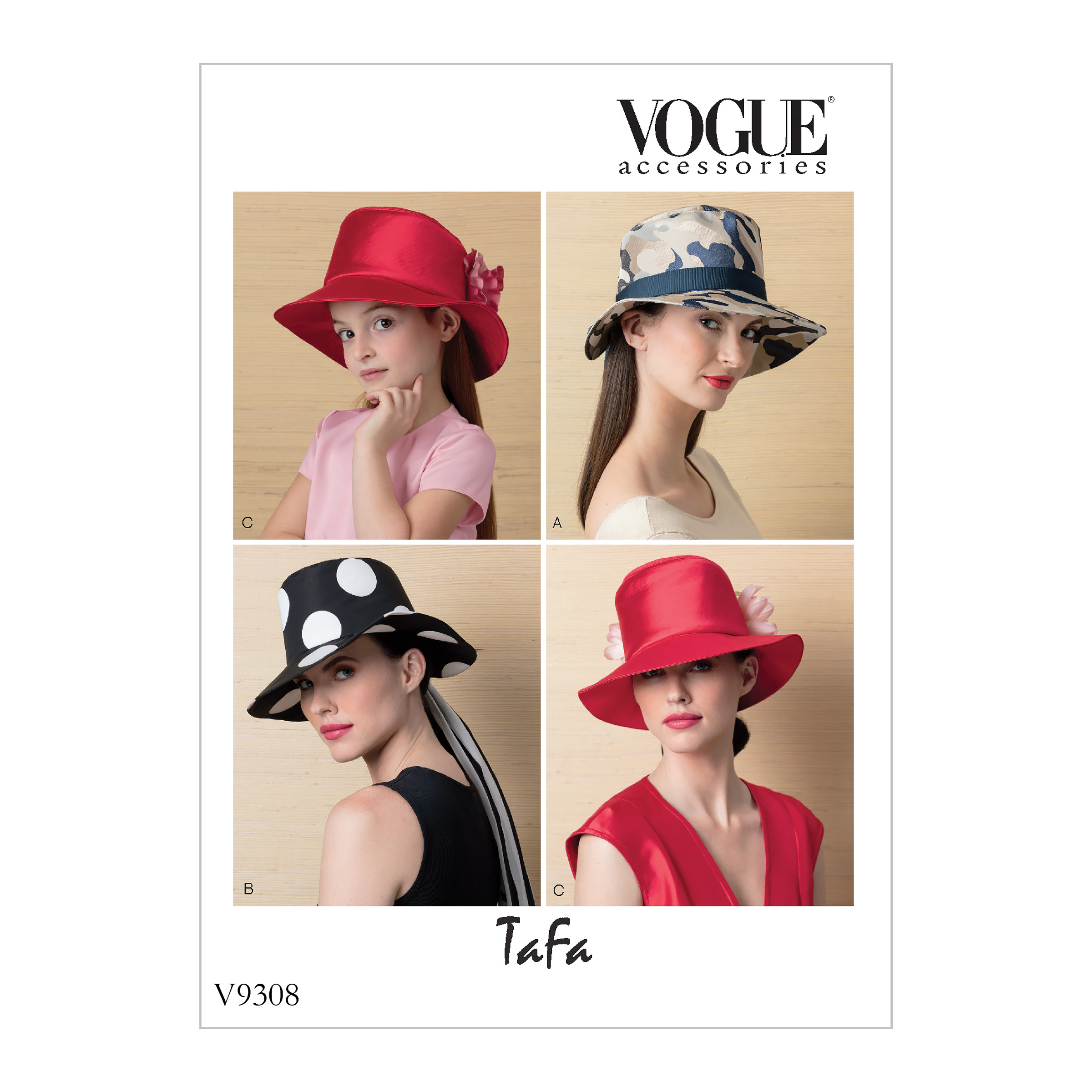 Vogue Patterns Sewing Pattern Misses' and Children's Hats-All Sizes in One Envelope