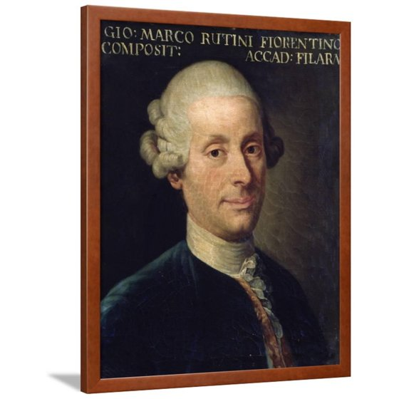 Portrait of Marco Rutini, Italian Composer Framed Print Wall Art ...