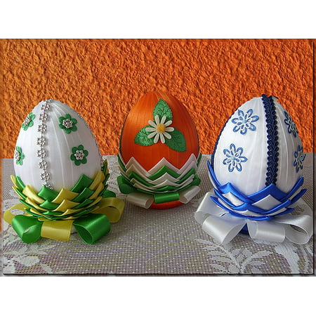 Canvas Print Eggs Easter Easter Symbol Decorated Eggs Stretched