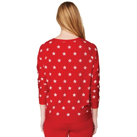 28768ebf29ea9e Dickies Red USA Stars Juniors Long Sleeve Shirt Large - image 1 of 2 ...