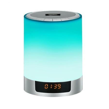 Led Colorful Night Light Bluetooth Speaker Digital Display
