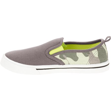 Image of Boys' Casual Neon Pop Twin Gore Slip On Sneaker