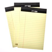 Pen + Gear Legal Pads, Canary Color Paper, Wide Ruled, 50 Sheets, 3 Count