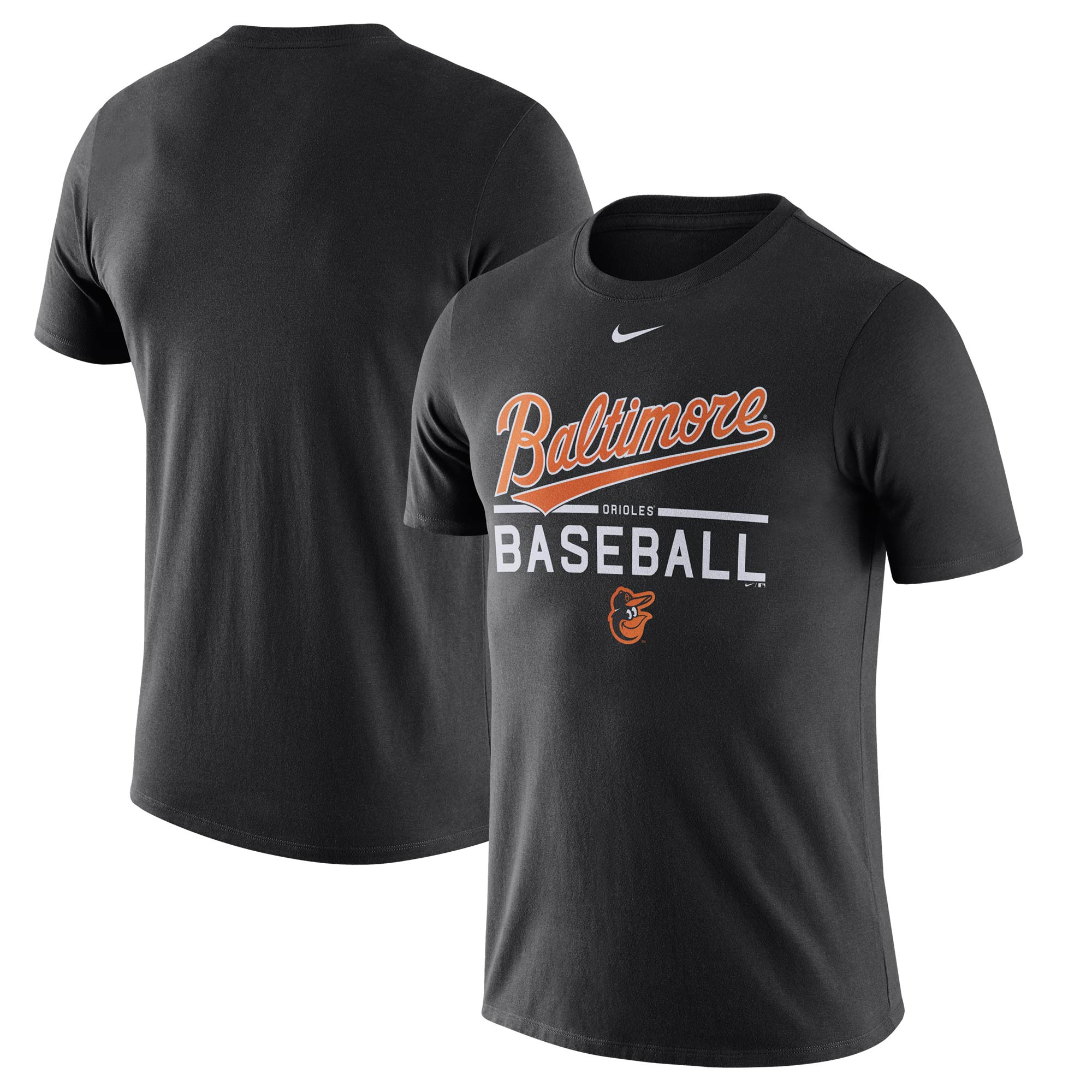 Baltimore Orioles Nike Away Practice T-Shirt - Black