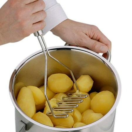Potato Masher Non Stick Masher (Stainless Steel Wave Shape Potato Masher Tool )
