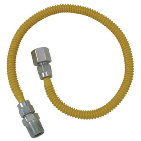 BRASS CRAFT SERVICE PARTS 60-Inch 1/4 I.D. x 3/8-Inch O.D. Stainless-Steel Gas Appliance Connector CSSL54-60 (S & S Appliance Parts & Service Llc)