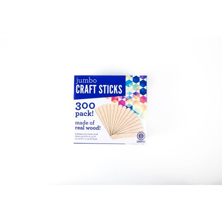 kids craft jumbo craft sticks 300pk