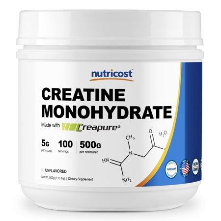 Nutricost Creapure Creatine Monohydrate 500 Grams - Pure, High Quality