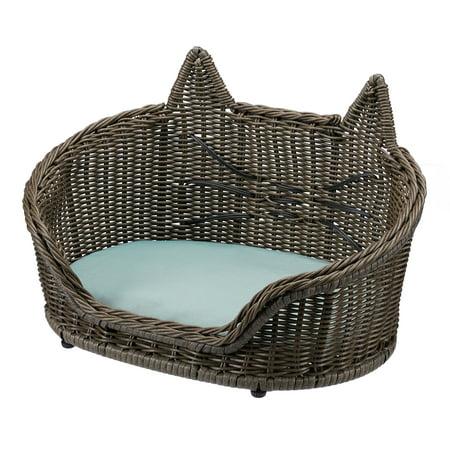 Wicker Cat Pet Bed by Drew Barrymore Flower -