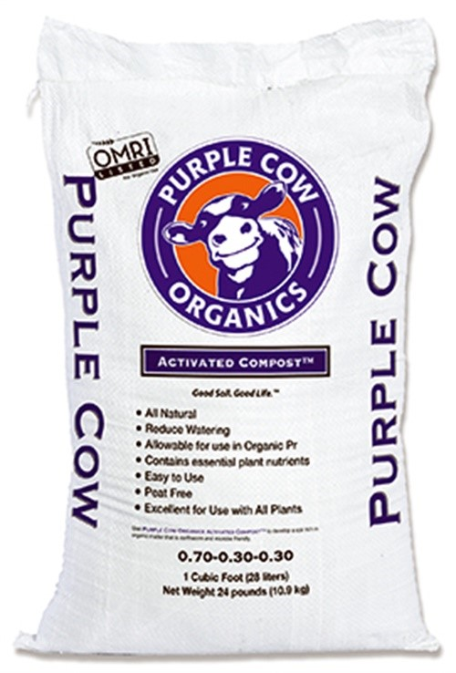 Purple Cow Organics PC ACTIVATED-1 CF Compost, Piece or PC Activated, Cu. Ft. by PURPLE COW ORGANICS