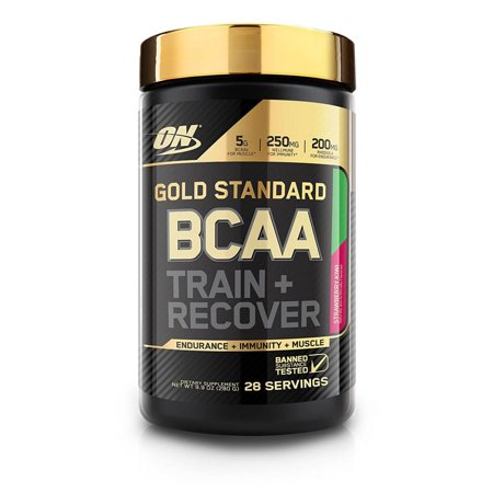 Optimum Nutrition Gold Standard BCAA Powder, Strawberry Kiwi, 28 Servings