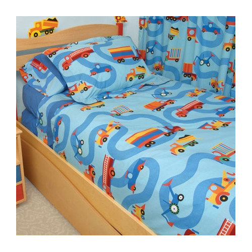 Room Magic Boys Like Trucks 3 Piece Duvet Set