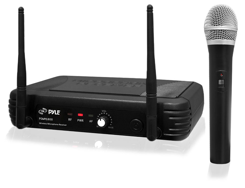 Pyle PDWM1800 Premier Series Professional UHF Wireless Handheld Microphone System by Pyle