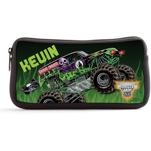 Personalized Monster Jam Grave Digger Black Pencil Case
