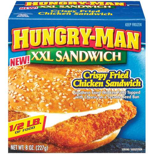 Hungry-man Hungry Man Xxl Crispy Chicken Sandwich