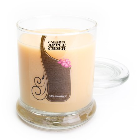 Caramel Apple Cider Candle - Medium Beige 10 Oz. Highly Scented Jar Candle - Made With Natural Oils - Bakery & Food Collection