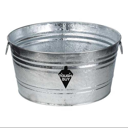 Tough Guy 3HNF8 Silver Galvanized Steel 9 gal. Utility Tub