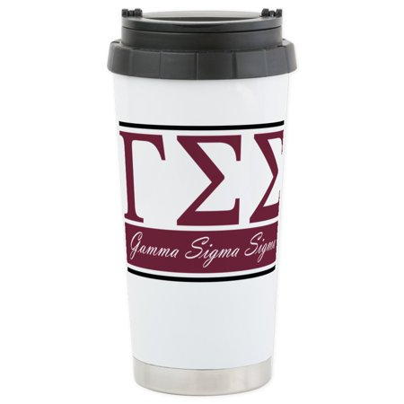 - CafePress - Gamma Sigma Sigma Lette Stainless Steel Travel Mug - Stainless Steel Travel Mug, Insulated 16 oz. Coffee Tumbler