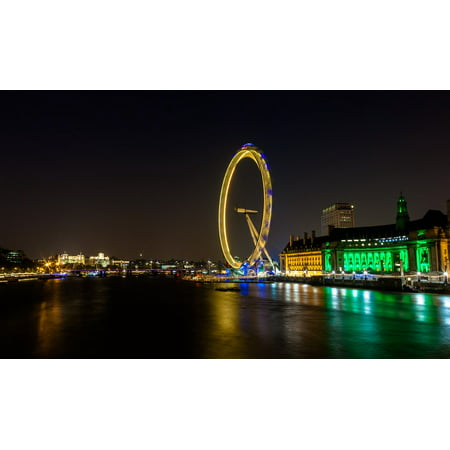 LAMINATED POSTER London Eye England Landmark Famous River Thames Poster Print 24 x 36 - Thames Valley Police Halloween Poster