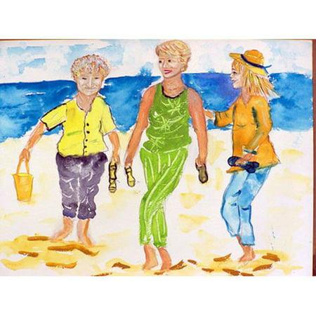 Betsy Drake Grandma At The Beach 30 X 50 Inch Comfort Floor Mat Comfort At The Beach